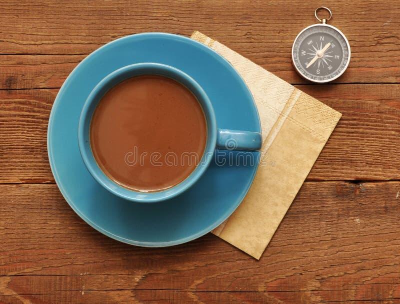kaffekompasskopp arkivbilder