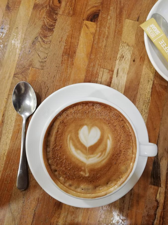 Kaffekonst arkivbilder