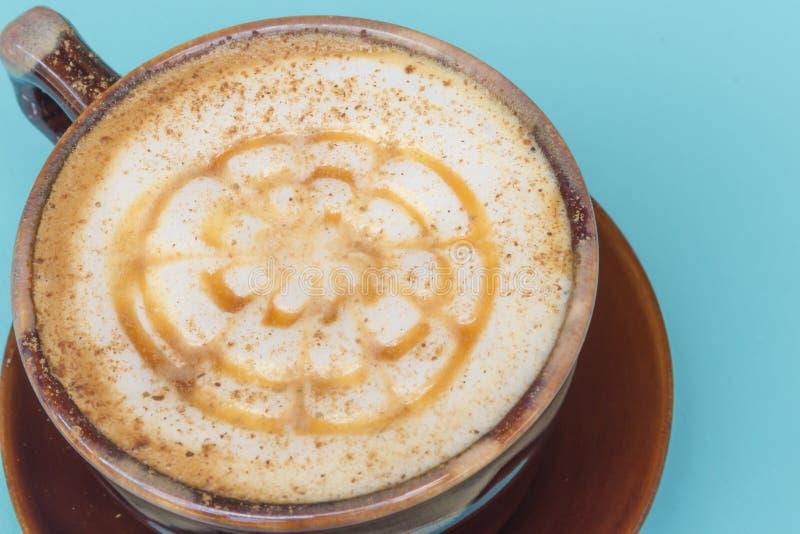 Kaffekopp av cappuccino arkivfoto