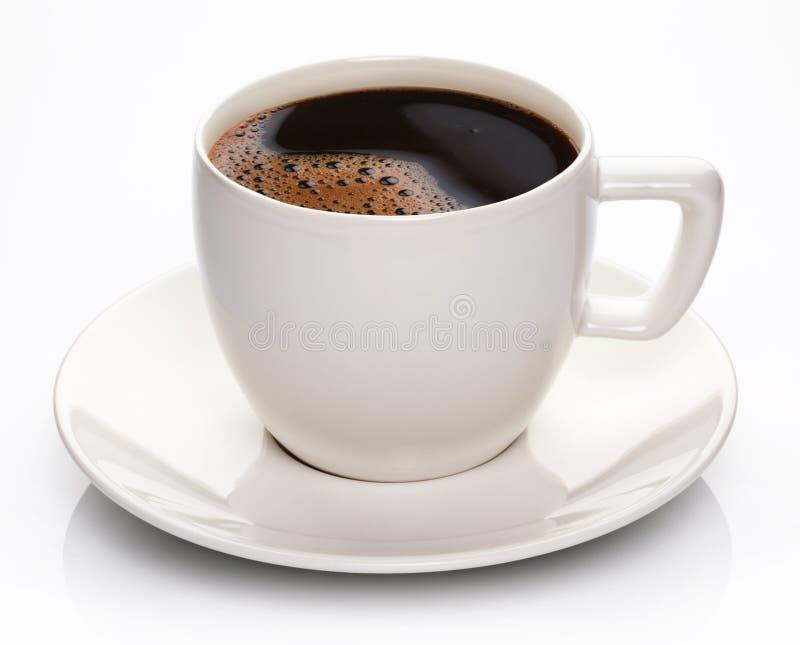 Kaffekopp och saucer arkivbild