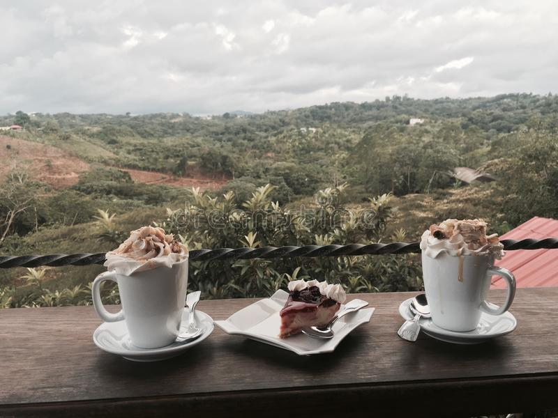 Kaffekopp upptill royaltyfri foto