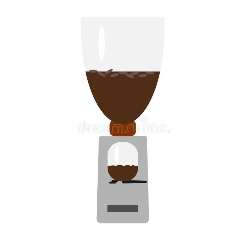 Kaffekvarnen i vektor vektor illustrationer