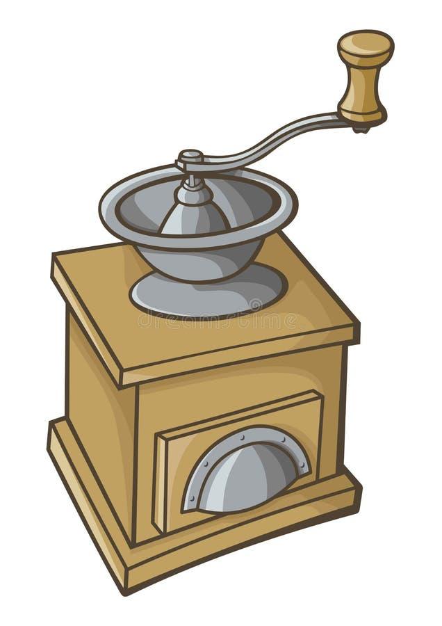 Kaffekvarnsymbol vektor illustrationer