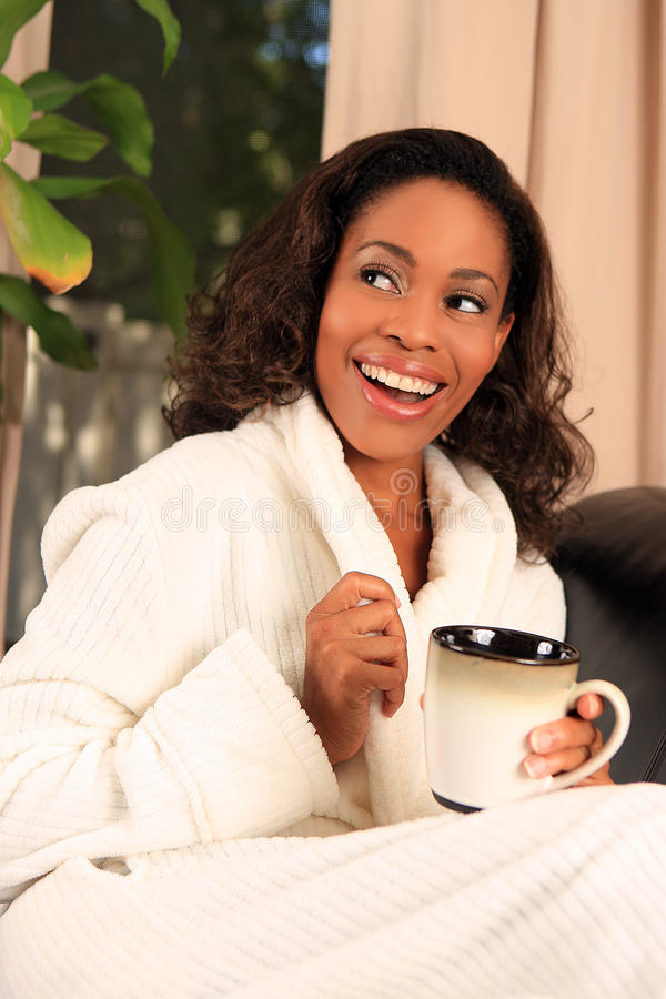 kaffekvinna royaltyfri bild