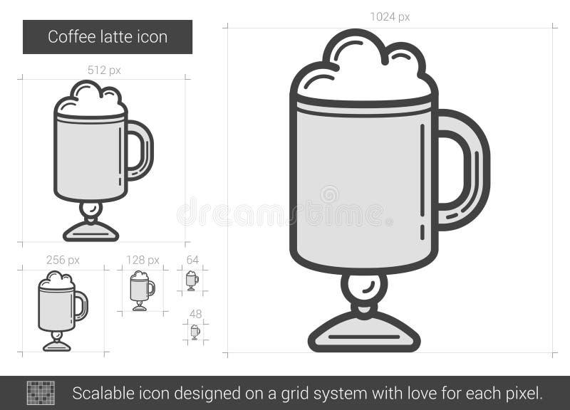 Kaffelattelinje symbol vektor illustrationer