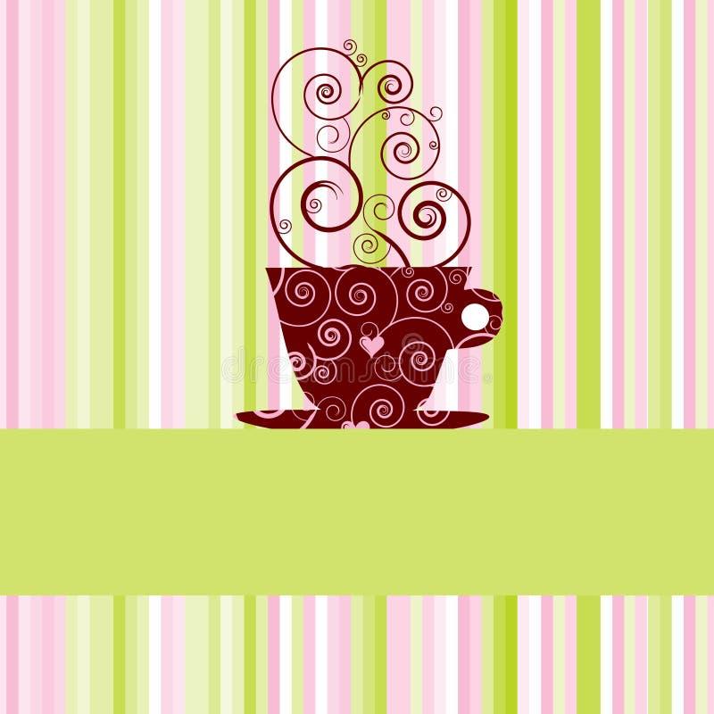 kaffemeny vektor illustrationer