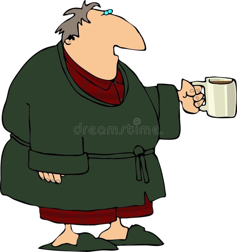 kaffemorgon royaltyfri illustrationer