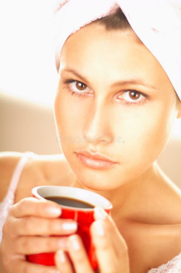 Download Kaffemorgon fotografering för bildbyråer. Bild av relax - 500673