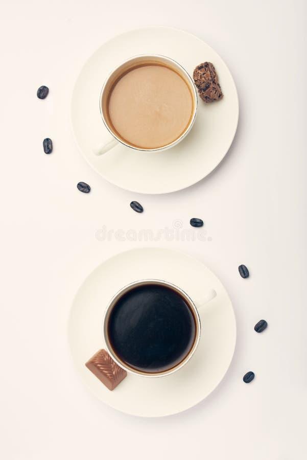 kaffemorgon två royaltyfri foto