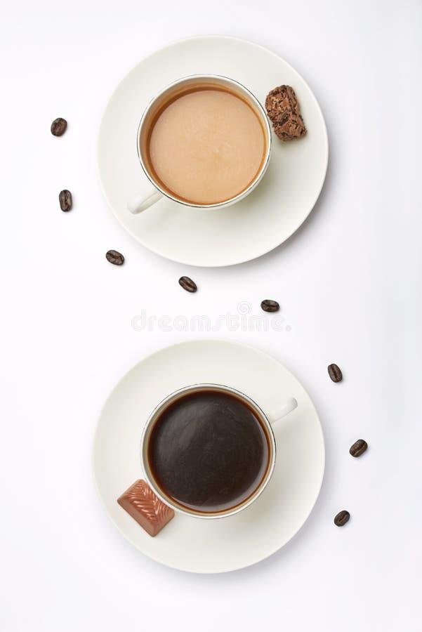 kaffemorgon två arkivbild