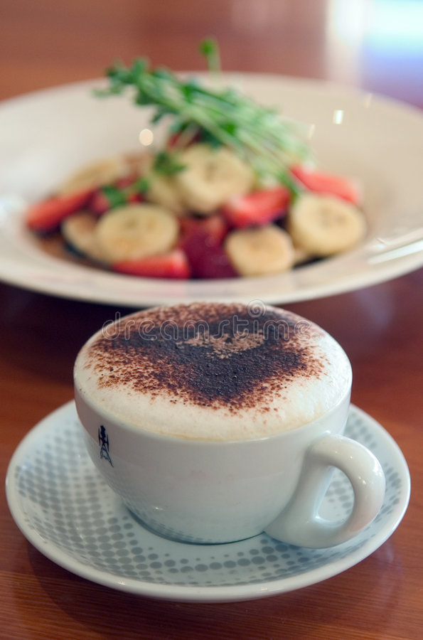kaffepannkakor royaltyfri bild