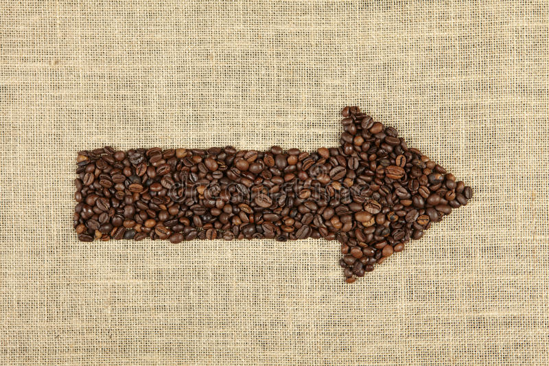 Kaffepil arkivbild