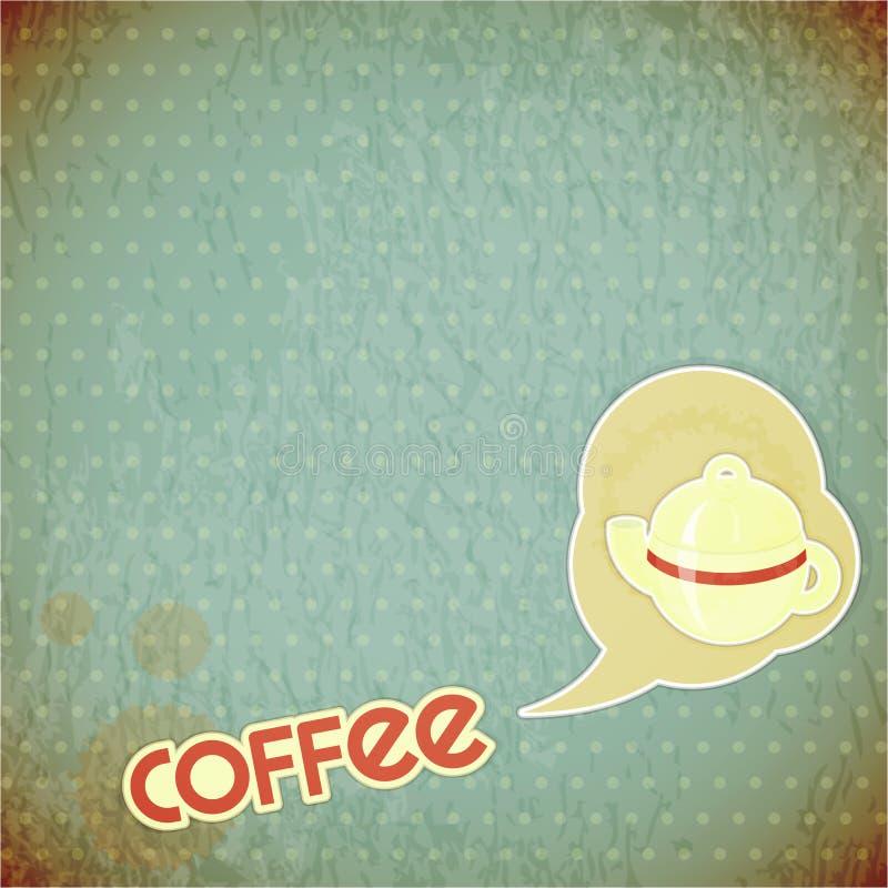 Kaffepotentiometer und Beschriftung Kaffee lizenzfreie abbildung