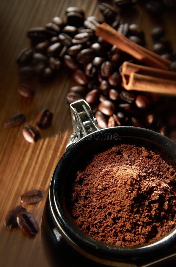 kaffepulver arkivfoton