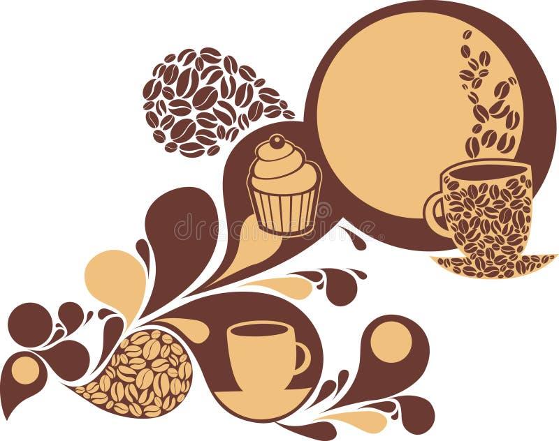 kaffesötsaker vektor illustrationer
