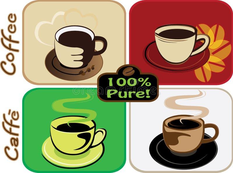 kaffeset stock illustrationer