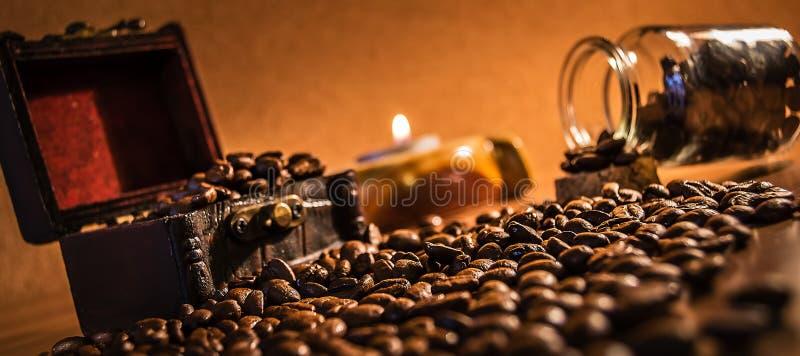 Kaffeskatt royaltyfri fotografi