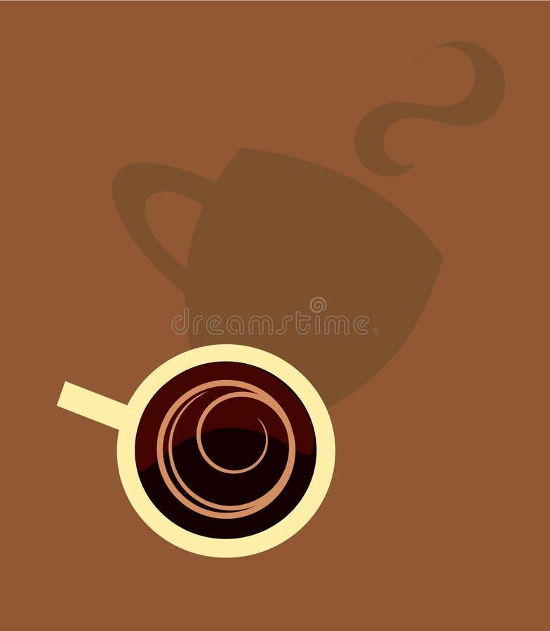 kaffeskugga royaltyfri illustrationer