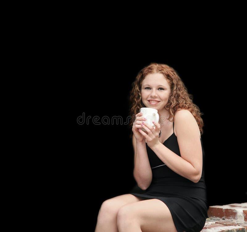kaffesupare royaltyfri foto