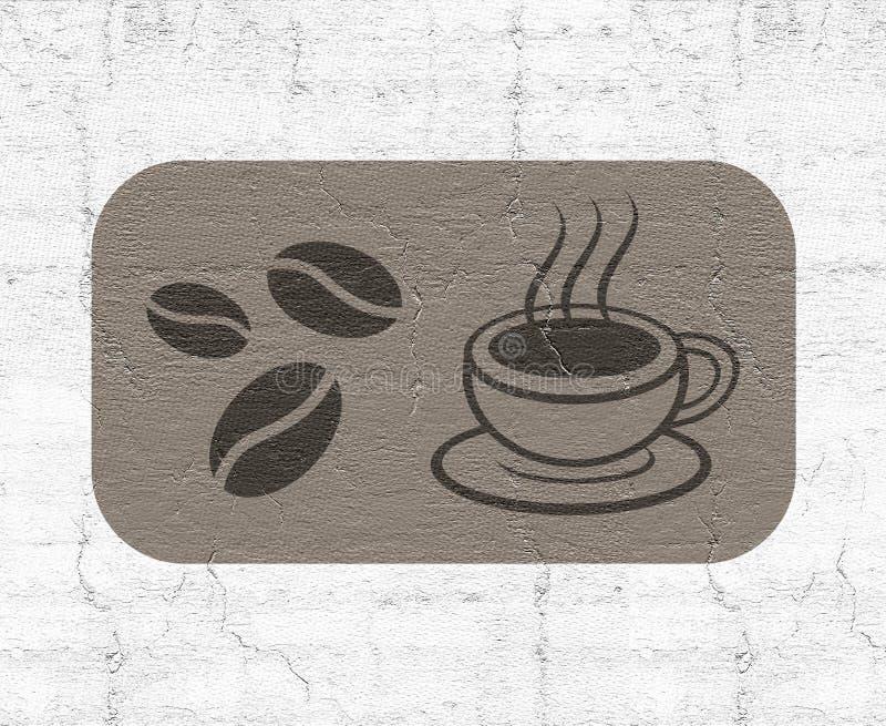 Kaffesymbol vektor illustrationer