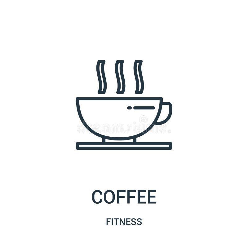 kaffesymbolsvektor från konditionsamling Tunn linje illustration för vektor för kaffeöversiktssymbol Linjärt symbol för bruk på r stock illustrationer