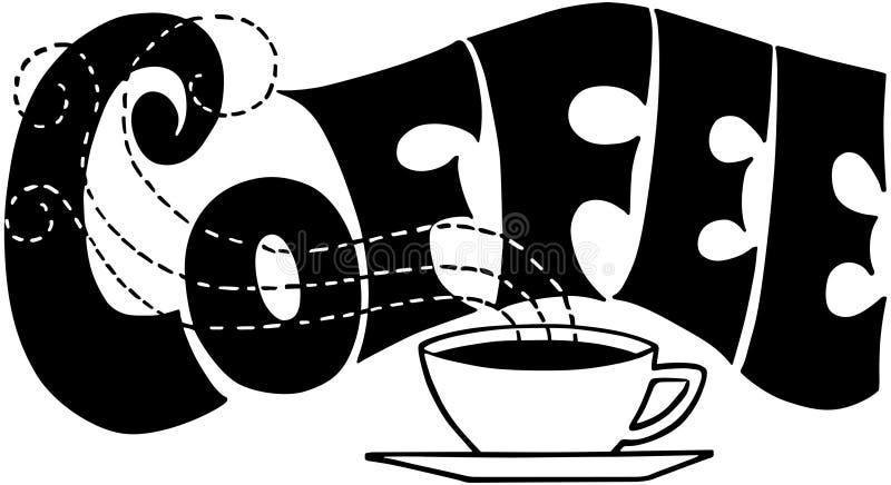 kaffetecken royaltyfri illustrationer
