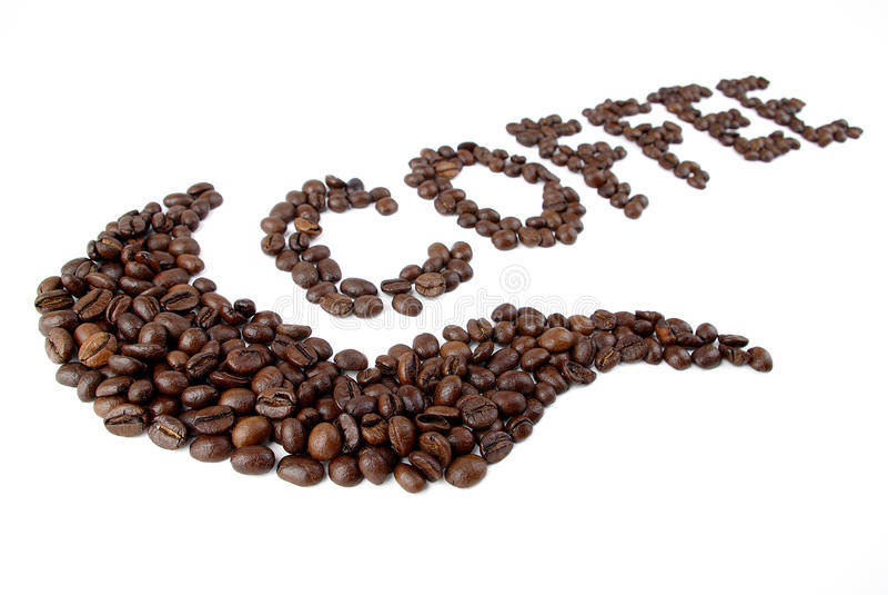 kaffetext arkivbilder
