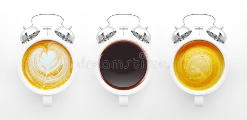 KaffeTid begrepp stock illustrationer