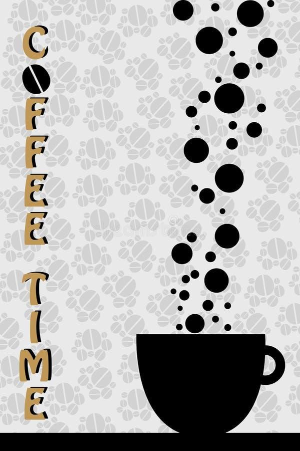 kaffetidvektor royaltyfri illustrationer