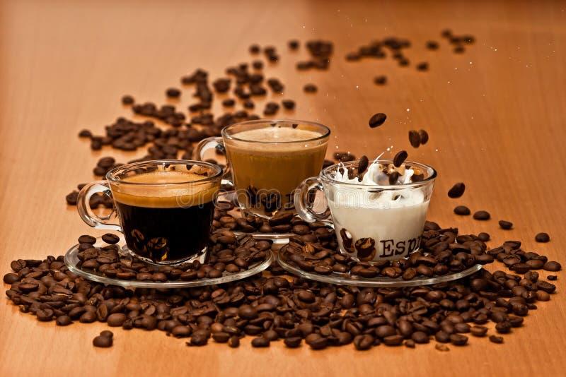 Kaffevariation royaltyfri foto