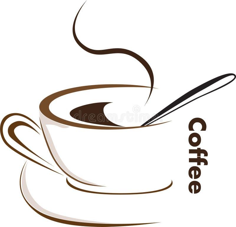 kaffevektor stock illustrationer