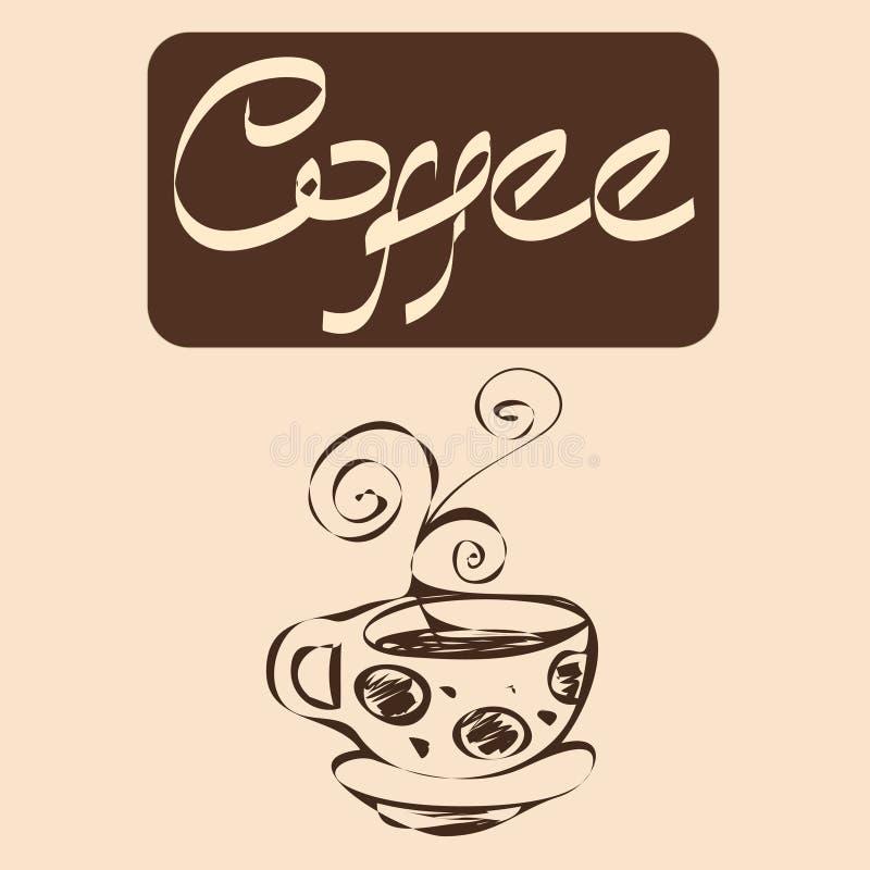 Kaffevektordesigner vektor illustrationer