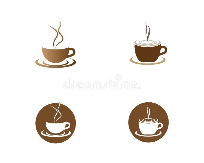 Kaffevektorillustration vektor illustrationer
