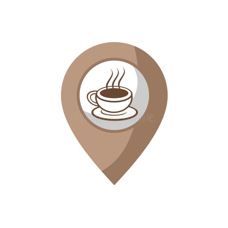 Kaffezon royaltyfri illustrationer