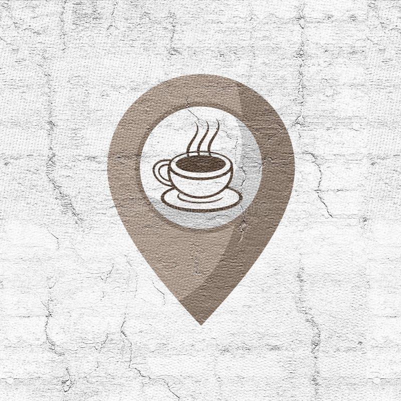 Kaffezon stock illustrationer