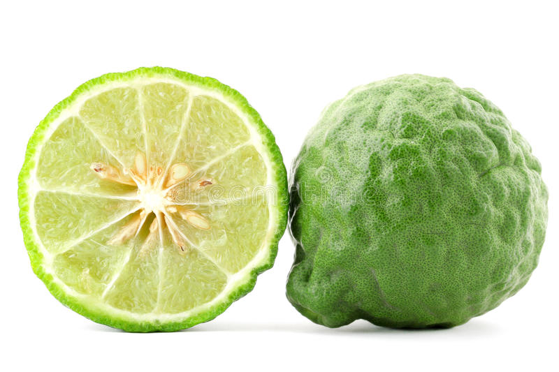 Kaffir. Lime isolated on white stock photo