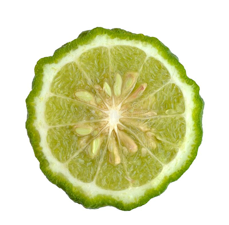 Kaffir lime isolated on white background stock photography