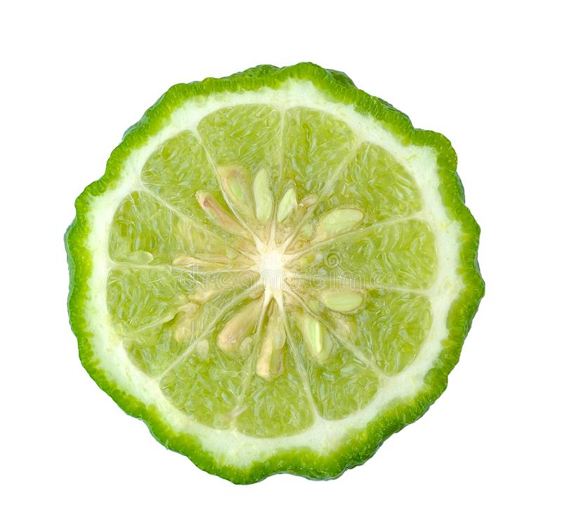Kaffir lime isolated on white background royalty free stock photography