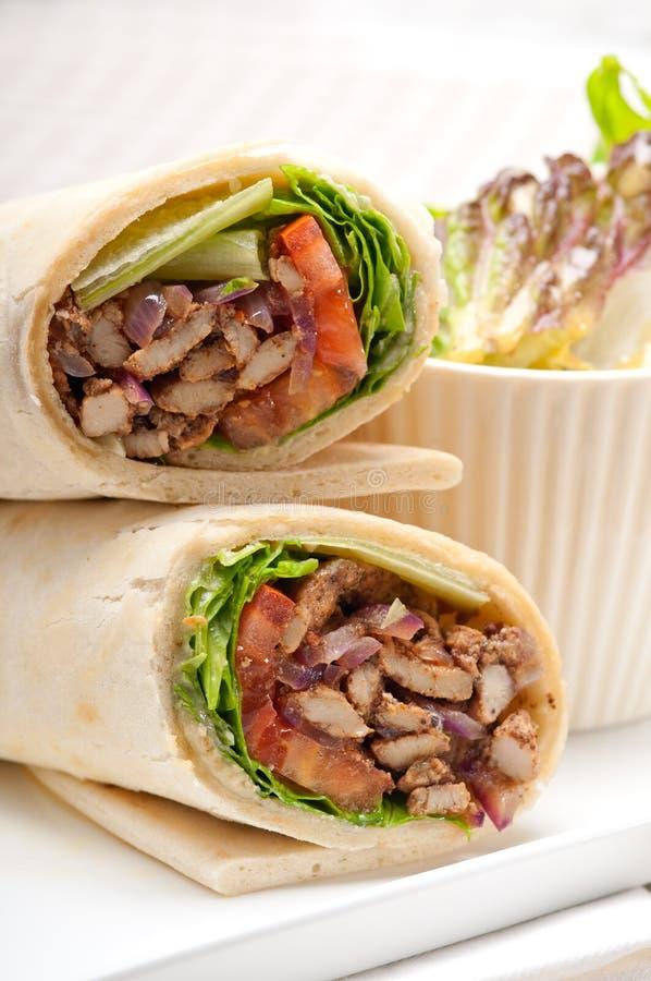Chicken shawarma roll - photo#35