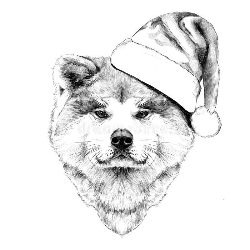 Kagana psa trakenu Akita inu royalty ilustracja