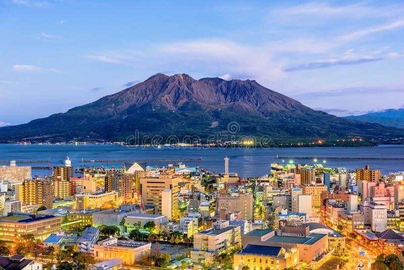 Kagoshima, Kyushu, Japão imagens de stock