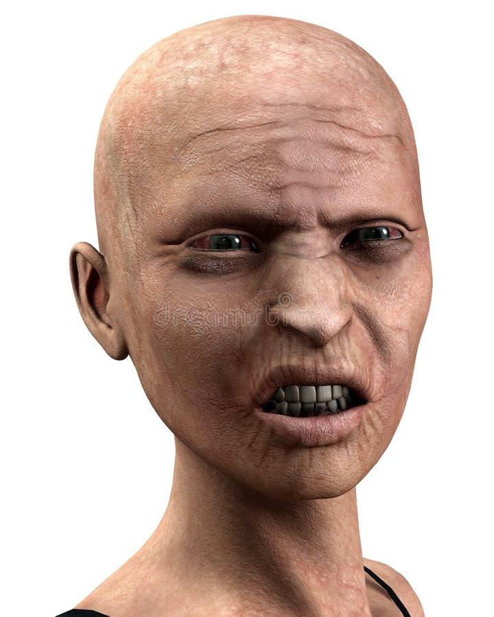Kahle Zombie-Frauen   vektor abbildung