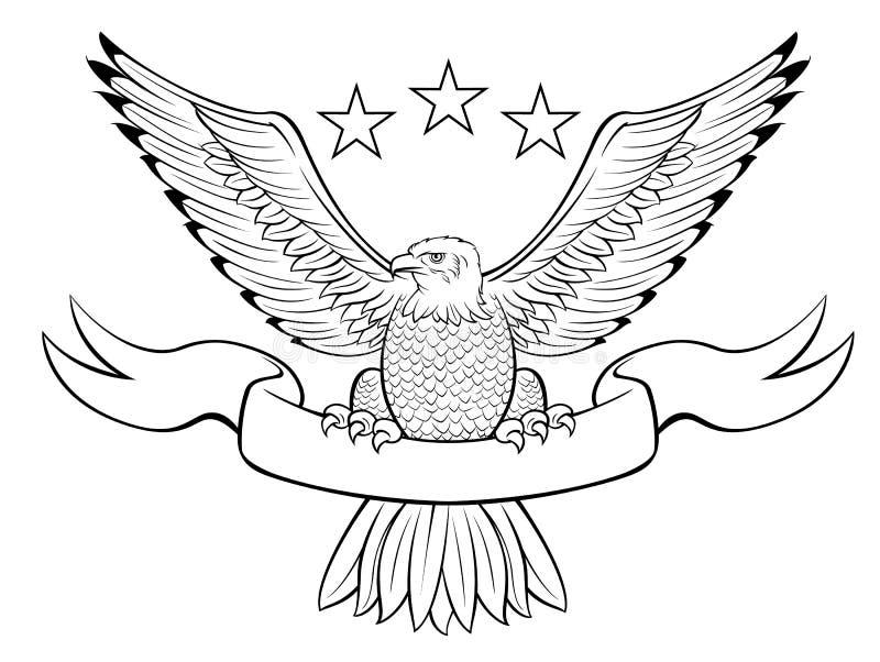 Kahler Adler-Abzeichen lizenzfreie abbildung