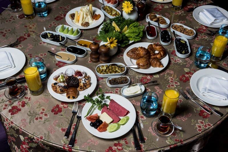 Kahvaltı del serpme del desayuno imágenes de archivo libres de regalías