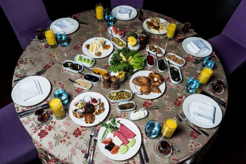 Kahvaltı del serpme del desayuno fotos de archivo