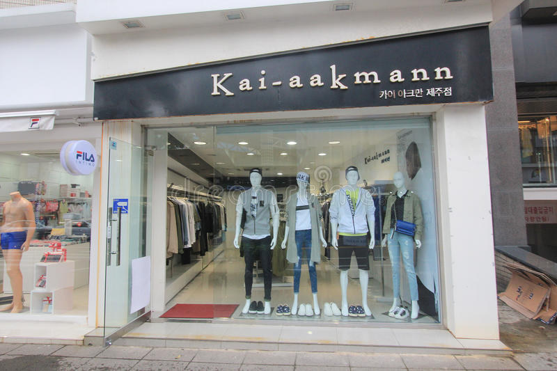 Kai aakmann shop in South Korea. Kai aakmann shop, located in Seoul, South Korea. kai aakmann is a clothes retailer in South Korea royalty free stock photo