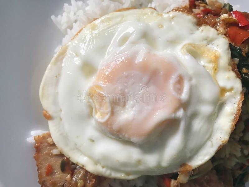 Tasty egg, Kai-Dow Thai word royalty free stock photos