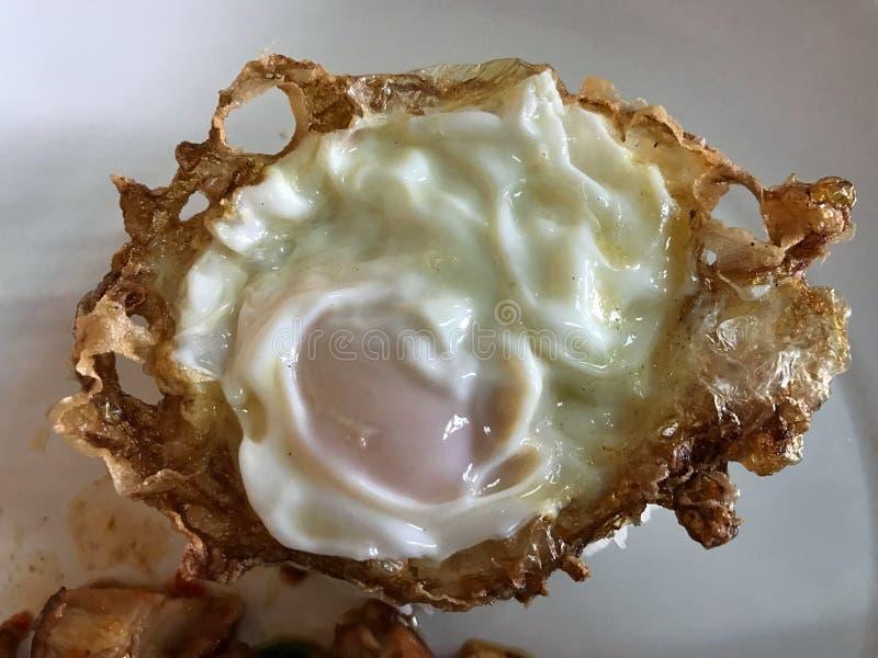Tasty egg, Kai-Dow Thai word stock photography