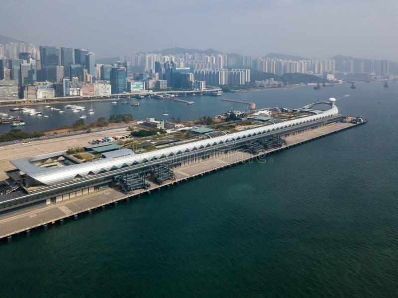 Kai Tak Cruise Terminal von Hong Kong lizenzfreies stockfoto