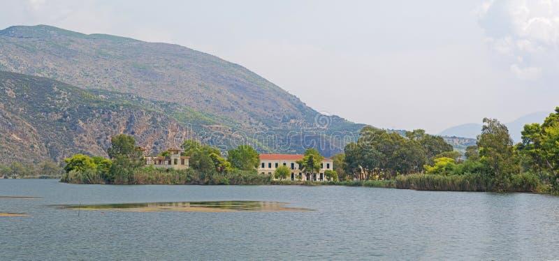 Kaiafas湖,希腊 库存图片